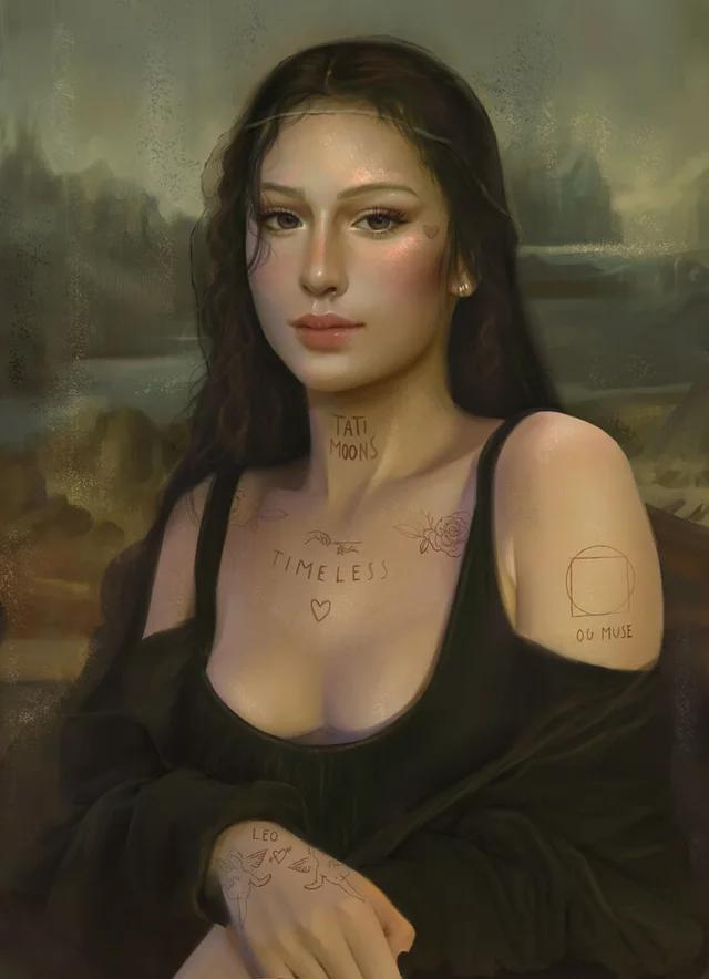 Mona Lisa, Tati Moons, Digital, 2020 Art in 2020 Mona
