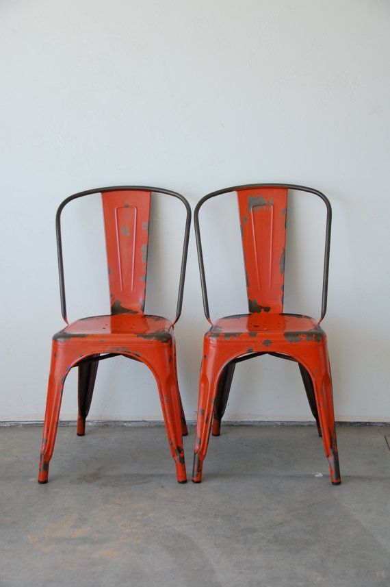 Custom Painted U0026 Distressed Tolix Style High Back Side Chair Color Of Your  Choice