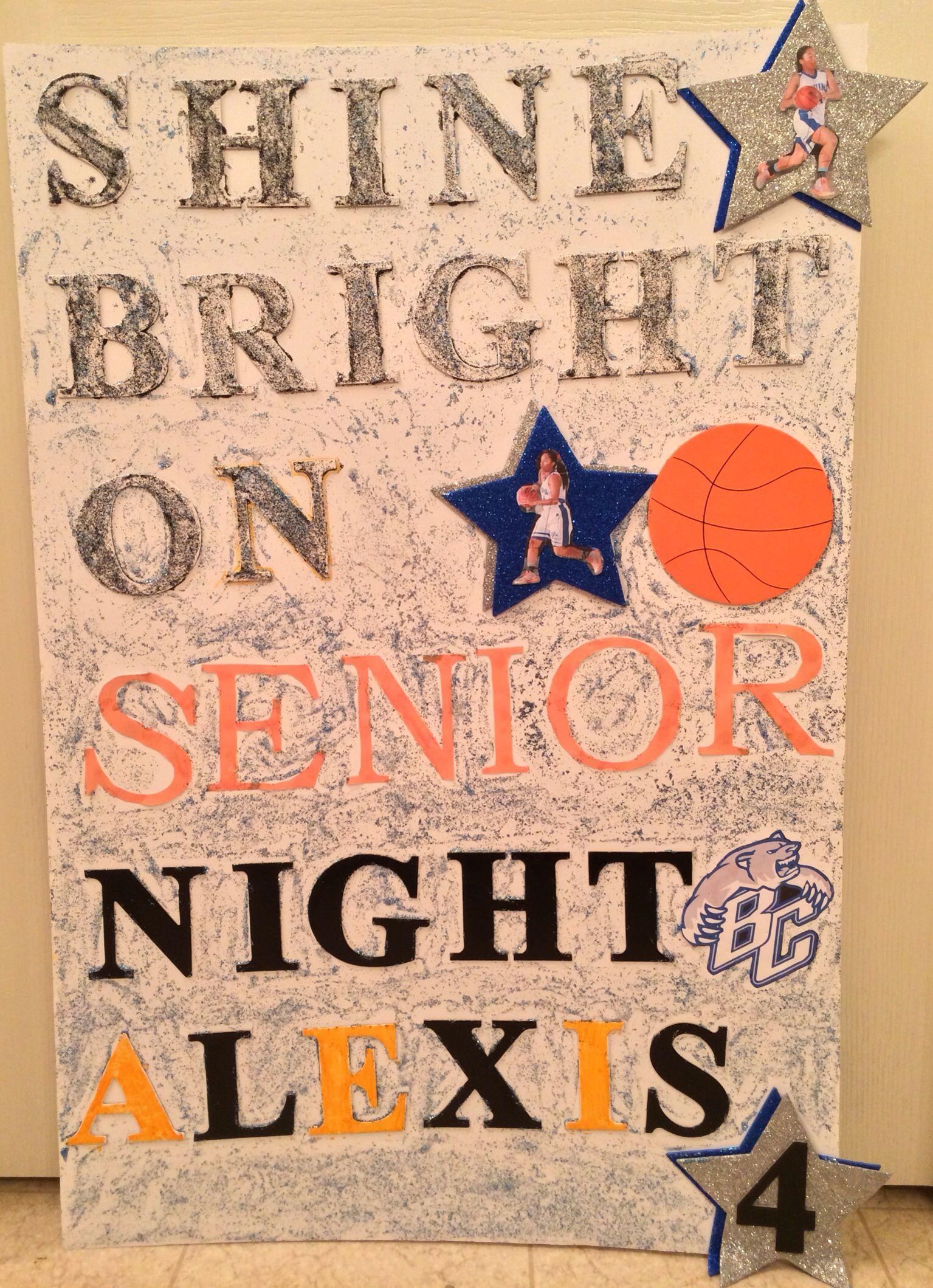 Senior Night Poster Bear Creek High School Bruins Lady ...