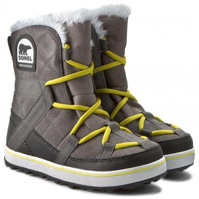 Sniegowce Sorel Glacy Explorer Shortie Nl 2079 052 Quarry Sorel Shorty Bage