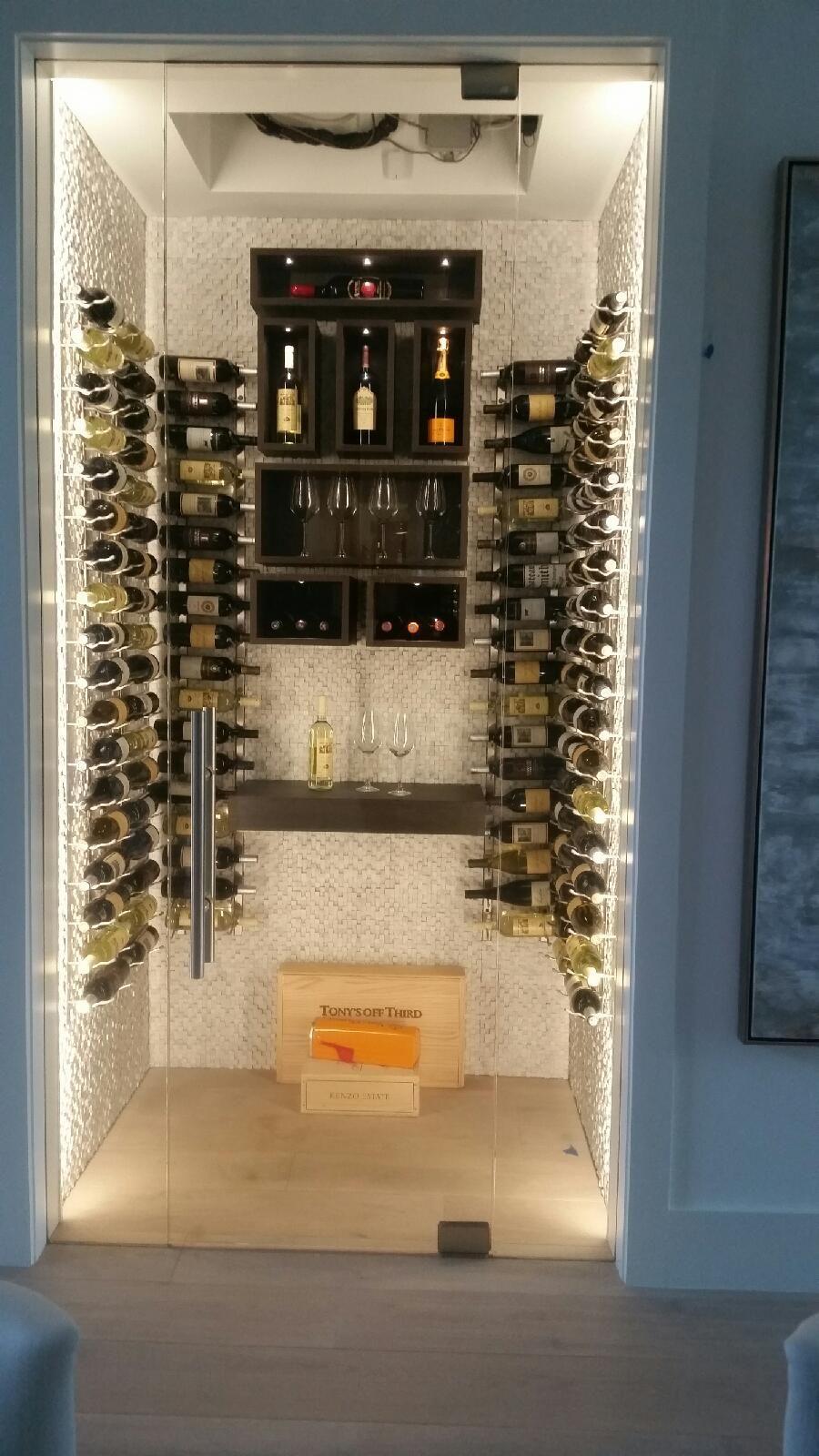 Frameless Glass Wine Cellar Door Room Naples Fl Home Design