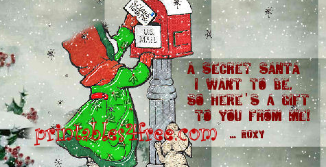 Secret Santa Cards Printable Suyhi Margarethaydon Com