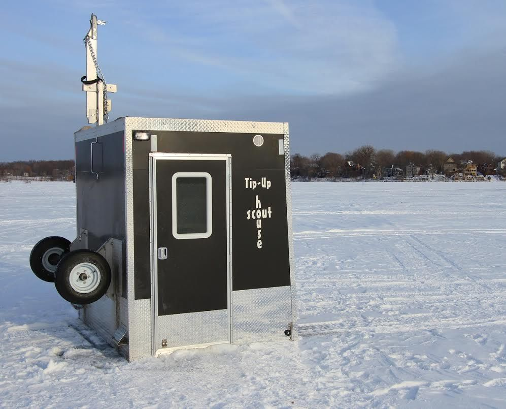 Custom cottages introduces new ice fishing deer hunting for Ice fishing shelter