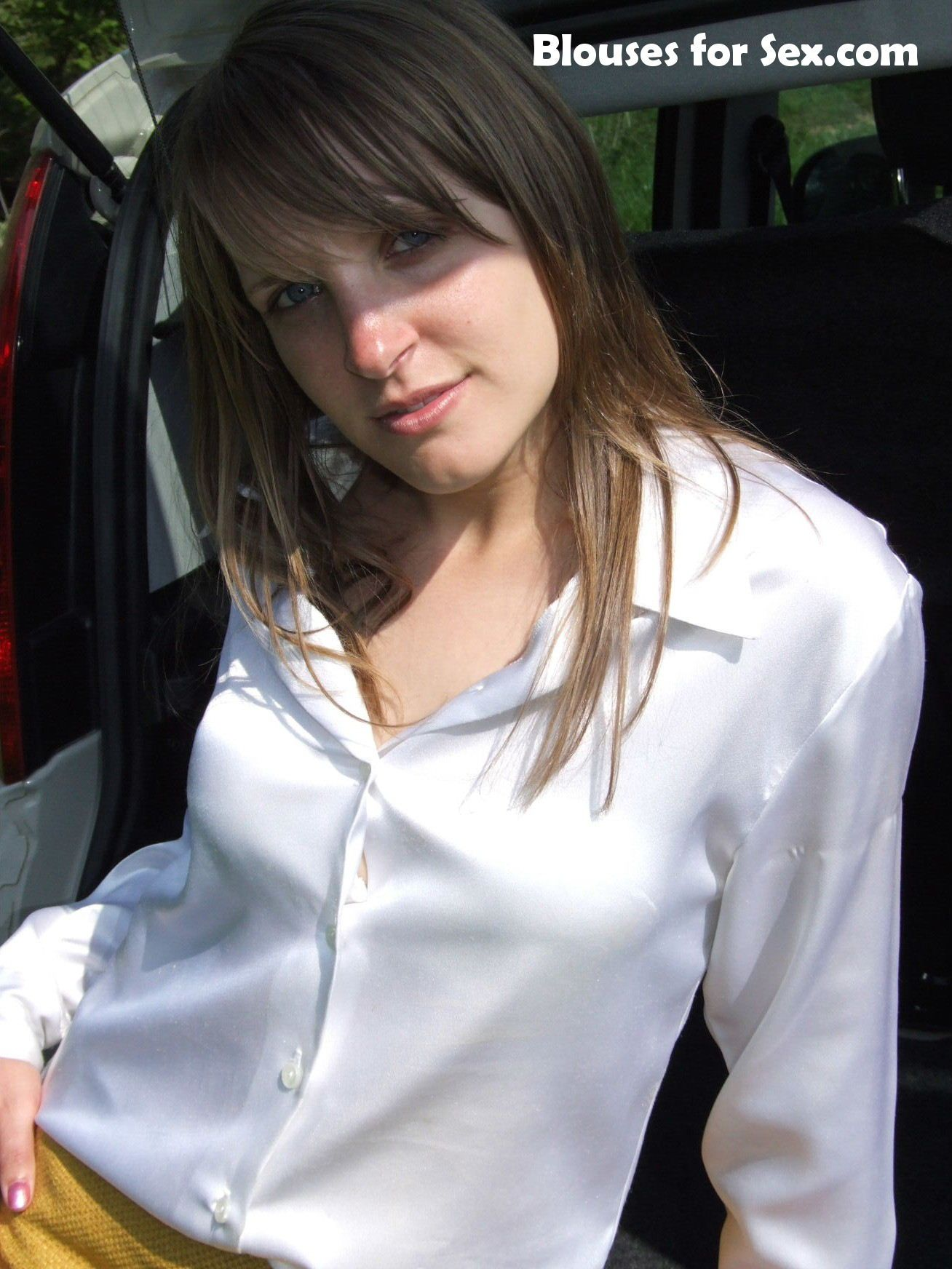 Sapphire In White Satin At Www Blousesforsex Com White Blouses