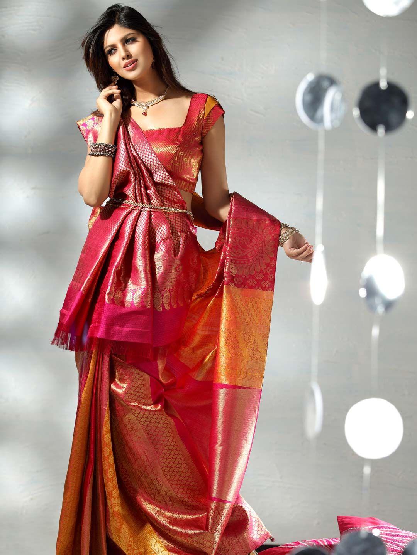 Pure Kanchipuram silk saree from Kalyan Silks
