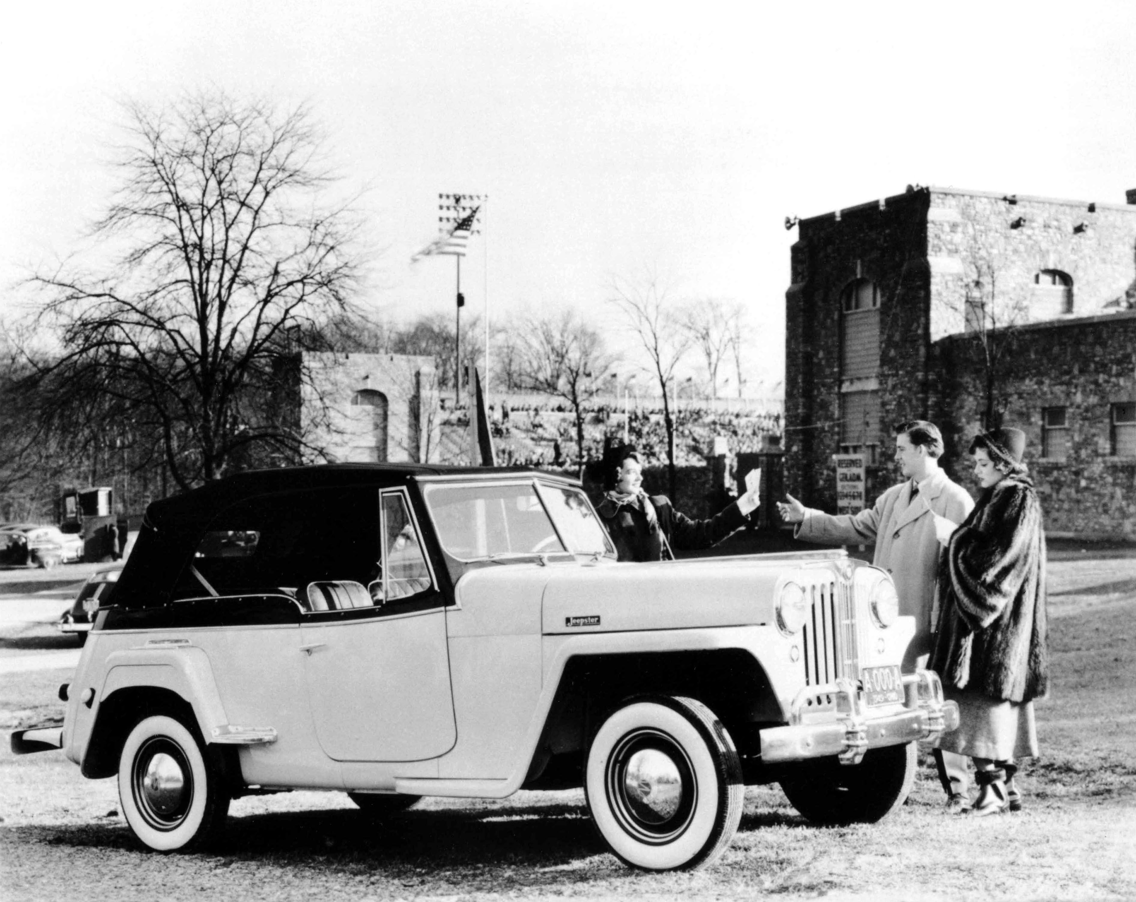 The Jeepster Vj Was The Last Phaeton Style Open Bodied Vehicle Made By Willys Overland Using Side Curtains For Weather Pro Jeepster Jeepster Commando Willys