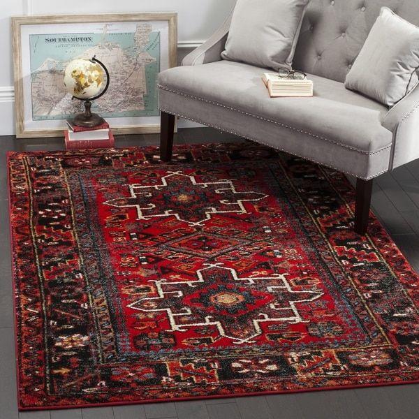 Safavieh Vintage Hamadan Traditional Red/ Multi Distressed Area Rug