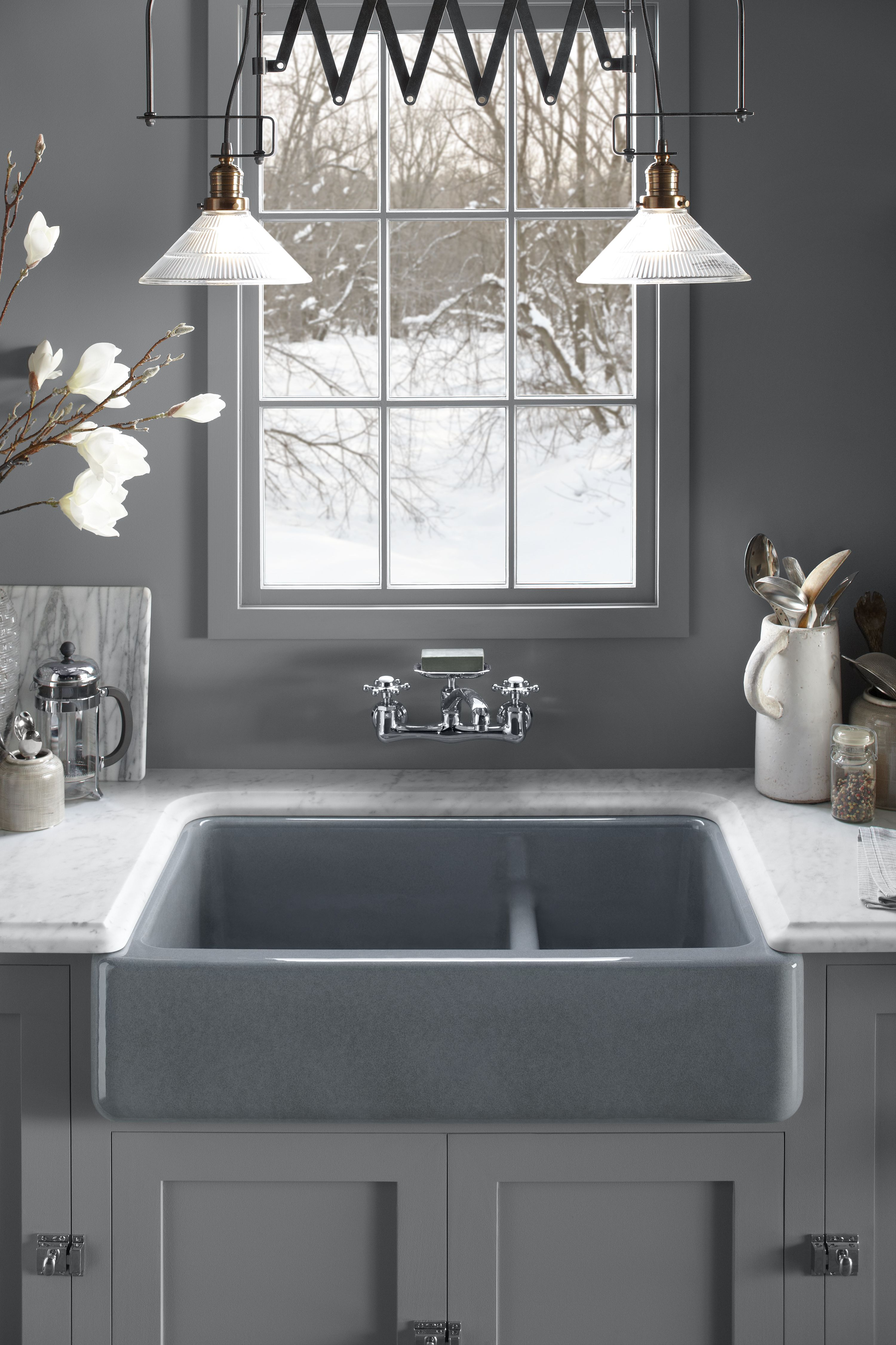 Stainless Steel Sinks · Kohler Smart Divide Bowls Make Our Whitehaven Sinks  More Functional Than Ever. A Low Barrier
