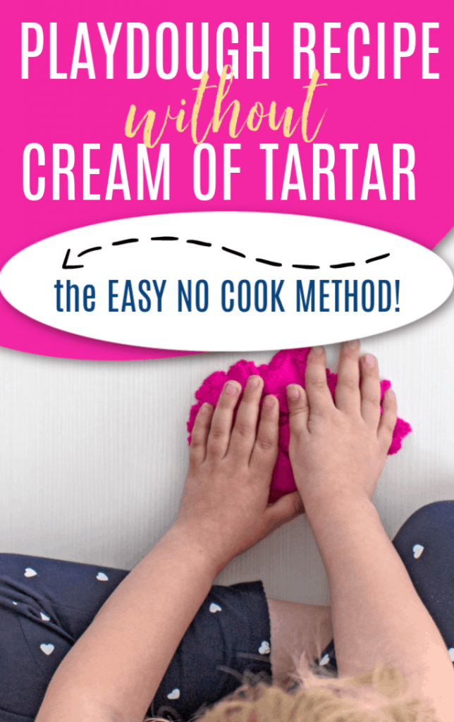 Easy Playdough Recipe Without Cream Of Tartar Or Lemon in