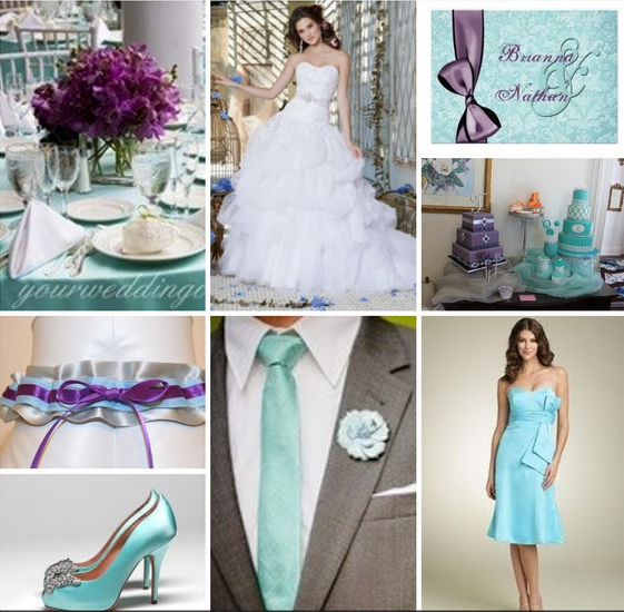 Nice Wedding Ideas If I Was To Ever Get Married Again Love The Tiffany Blue With Gray And Purple