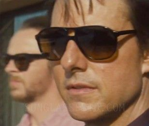 Tom Cruise Wears Black L G R Tangeri Sunglasses In Mission