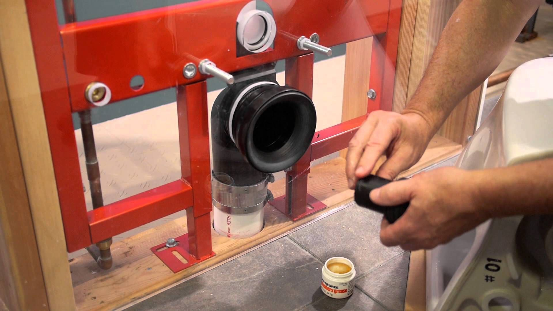 Detailed Instructions On Installing The Aquia Or Maris Toilet With The Toto In Wall Tank System Toilet Installation Wall Hung Toilet Wall Mounted Toilet