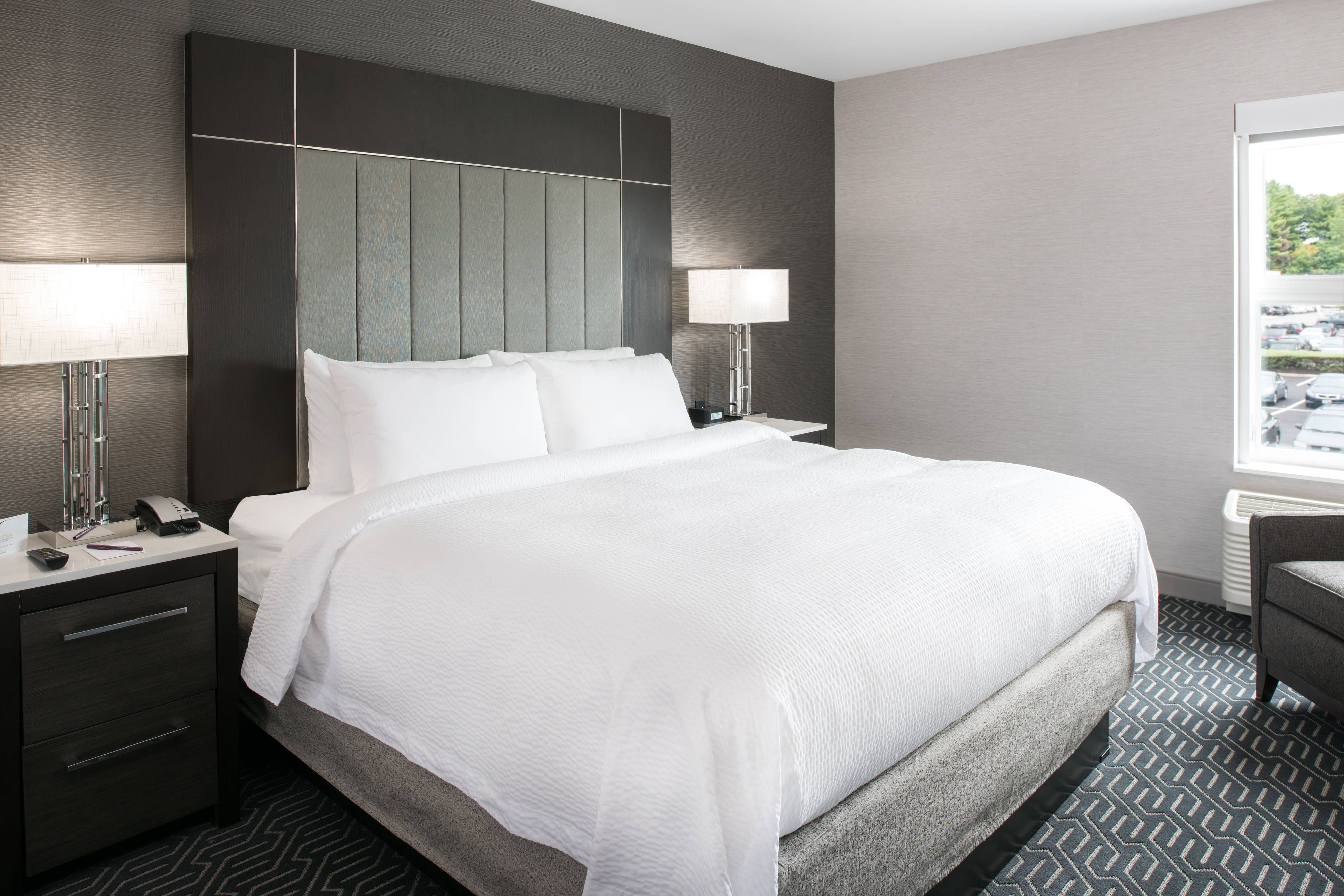 Residence Inn Boston Concord King Suite Sleeping Area Holiday