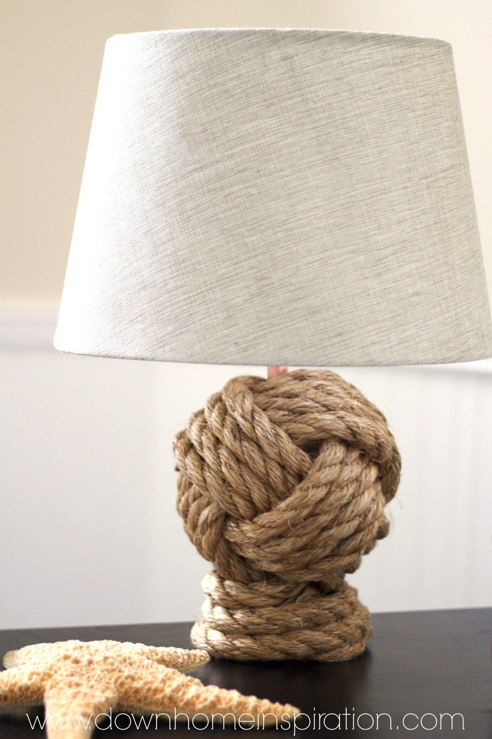 nautical rope lamp coastal make your own pottery barn knockoff rope knot lamp that is dead ringer for the original with savings of 220 beach house decorating ideas