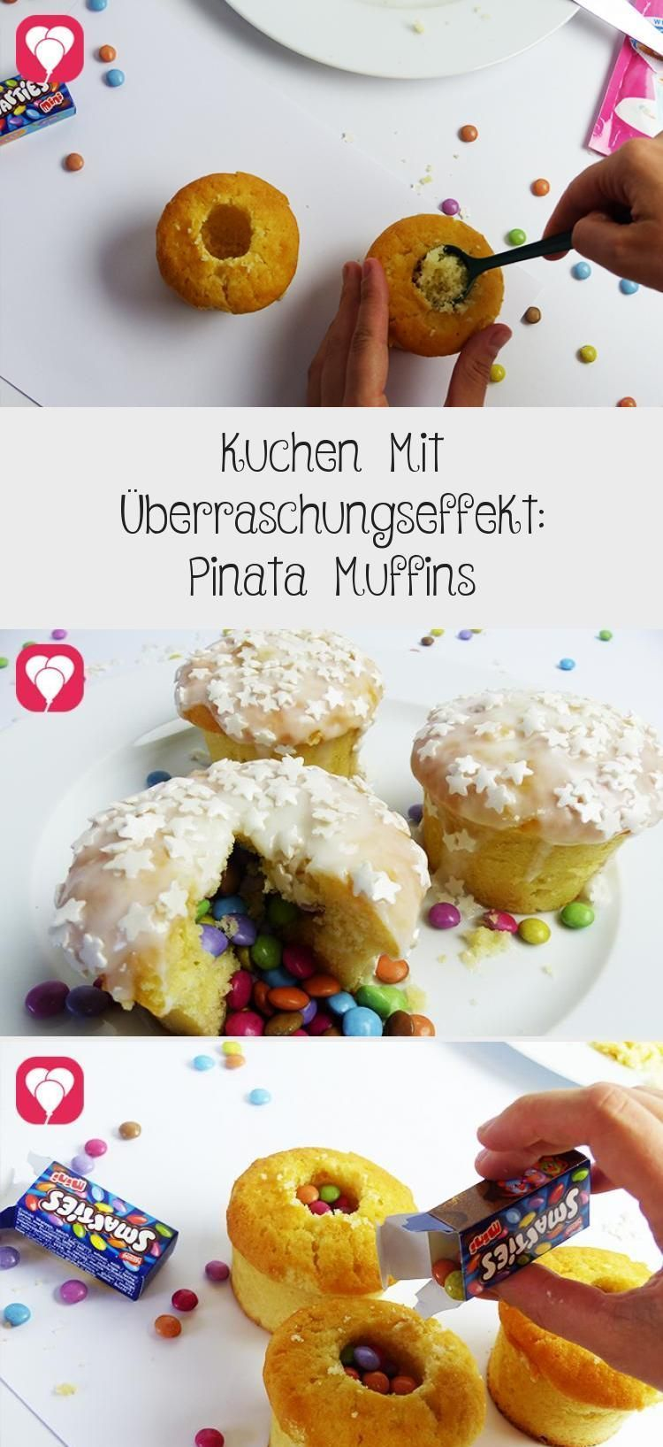 Photo of Kuchen mit Überraschungseffekt: Pinata Muffins – Ballon #PinataKuchenRegenbo …..