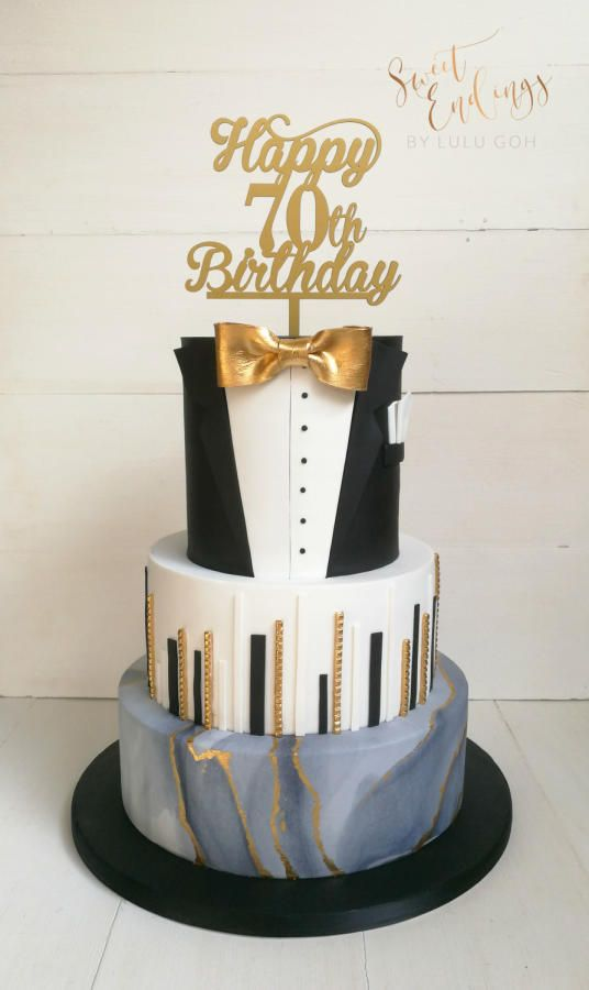 70th Birthday Cake For A Gentlemen Cake By Lulu Goh In
