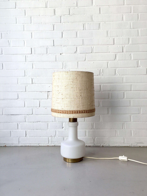 Mid Century Tischlampe Doria Leuchte Lampe Vintage Glaslampe Mid