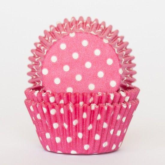 Raspberry Pink Polka Dot Cupcake Liners Bake It Pretty With
