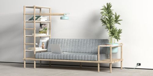 Herb is a minimalist design created by Turkey-based designer Burak Kocak. Herb is a multifunctional sofa and a living space which combines d...