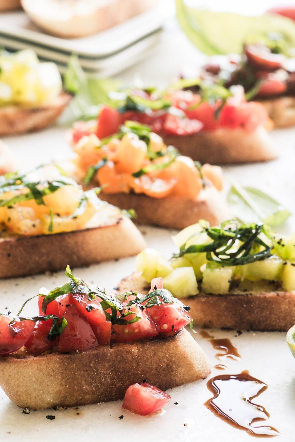 Heirloom Tomato Bruschetta - Recipe - Tomato Bruschetta, Bruschetta And