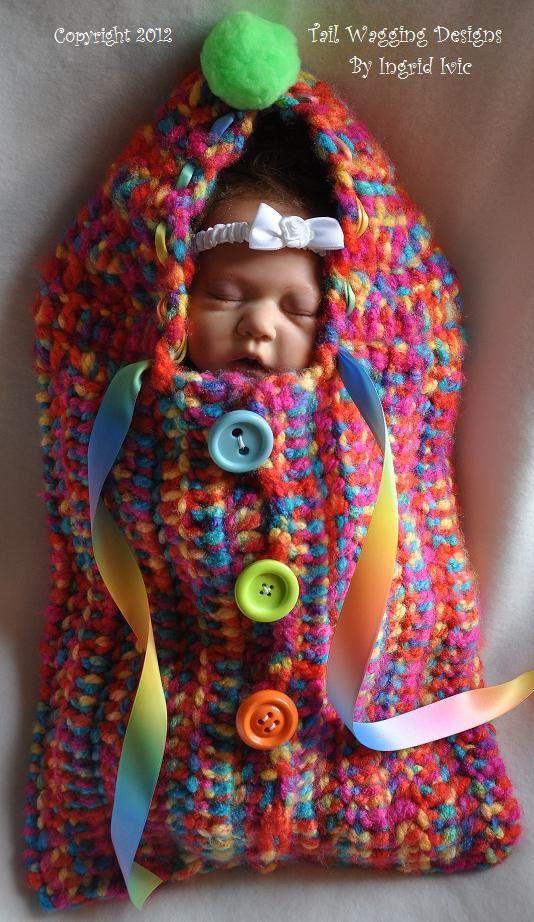 Baby Cocoon Bunting Warm Cozy Crocheted   Crochet   Pinterest ...