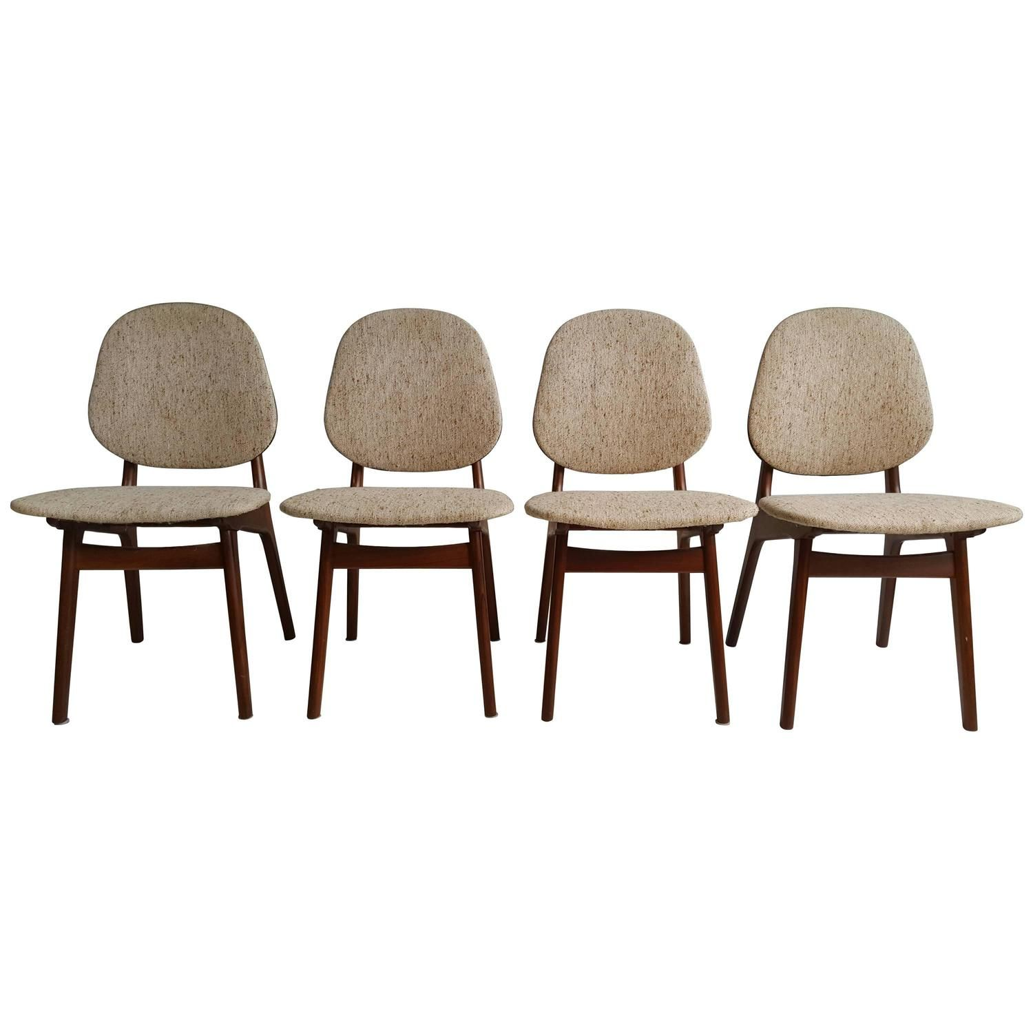 Elegant Danish Modern Dining Chairs by Arne Hovmand Olsen