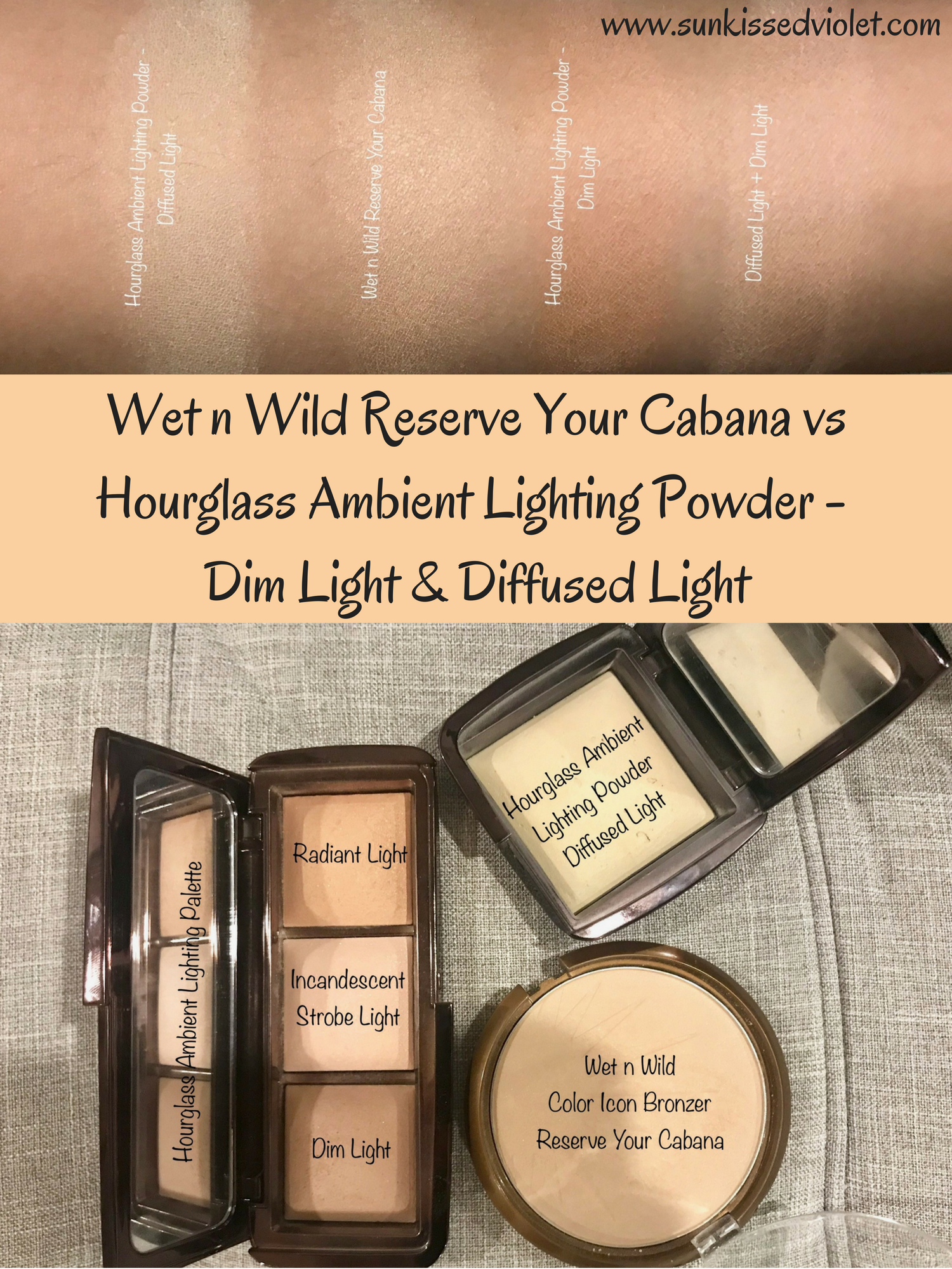 Wet N Wild Reserve Your Cabana Vs Hourglass Ambient Lighting Powder   Dim  Light U0026 Diffused