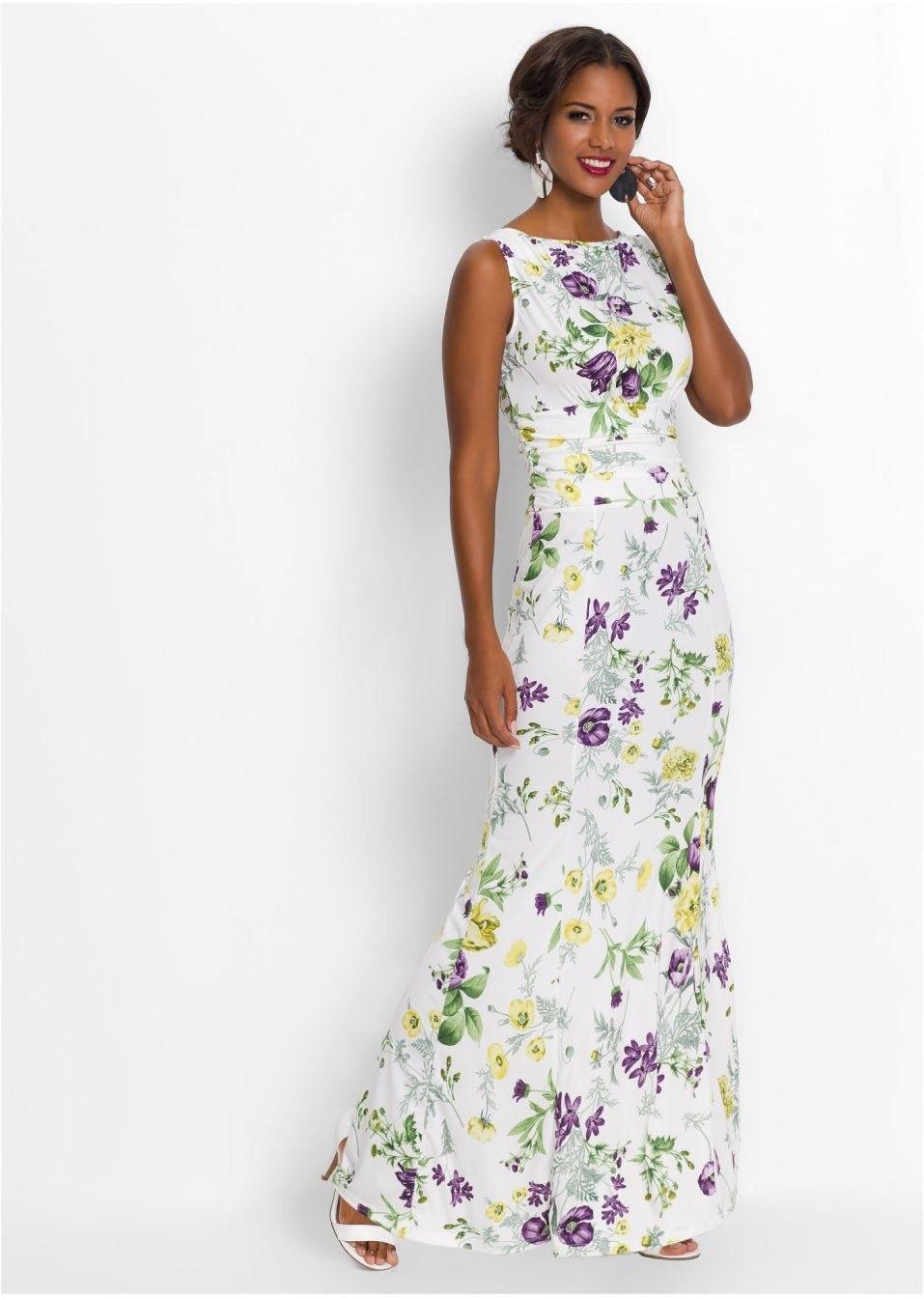 8626b6a70b23e Lillelise mustriga kleit - Naistele - BonPrix   Heegeldamine ...