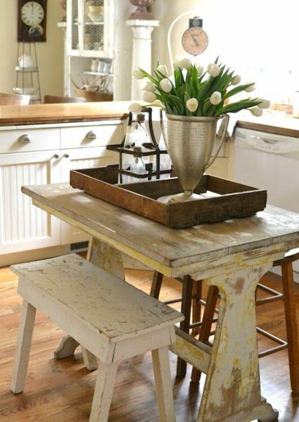 Kleine Landhausküchen kleine küche einrichten landhausküche mit viel stauraum shabby