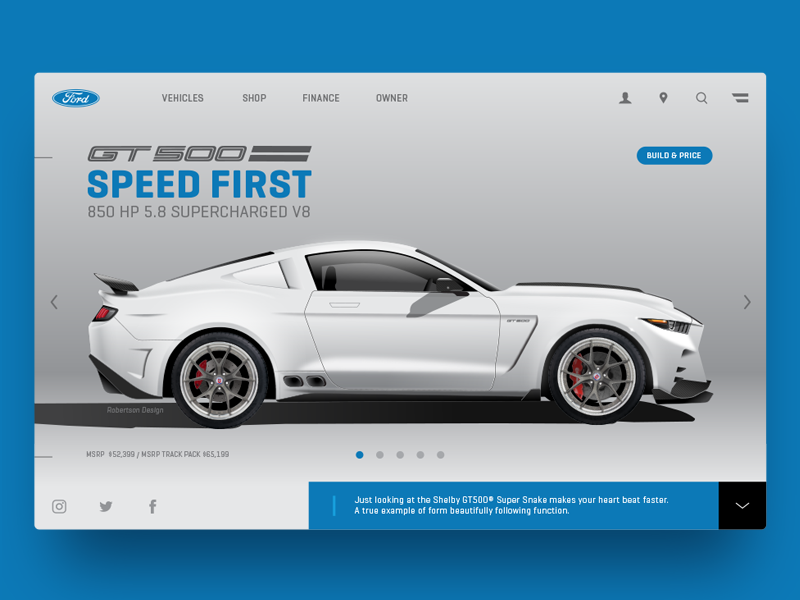 Ford Mustang Shelby Concept carconcept productdesign cardesign shelby mustang ford webdesign ux ui