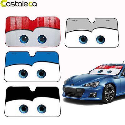 New Disney Big Eyes Pixar Cars Lightning Front Car Windshield Sun