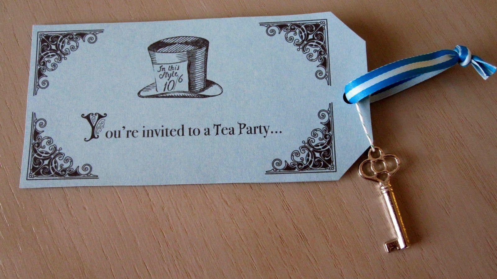 free printable alice in wonderland tea party