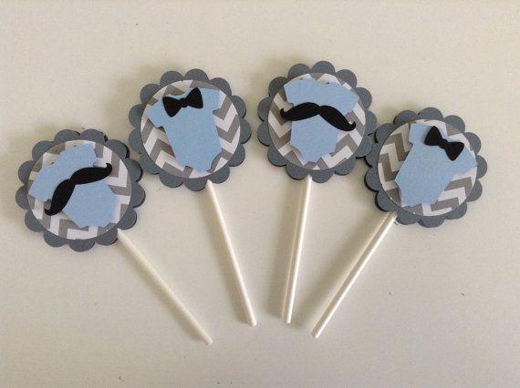 Baby Shower Decor, Little Man Baby Shower Cupcake Toppers, Little Man Cupcake Toppers, Little Man Decor