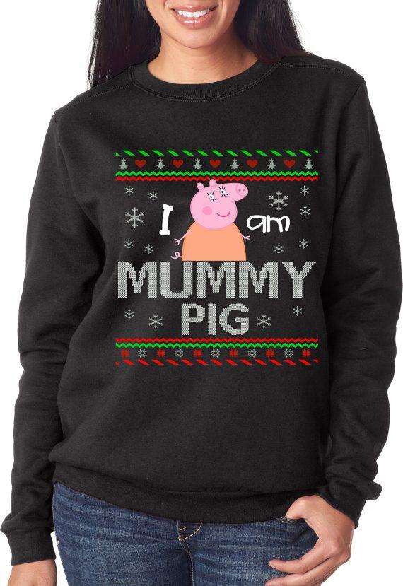 Ugly Sweater Ugly Sweater Party Peppa Pig Mummy  #peppapig #mummypig #uglysweater