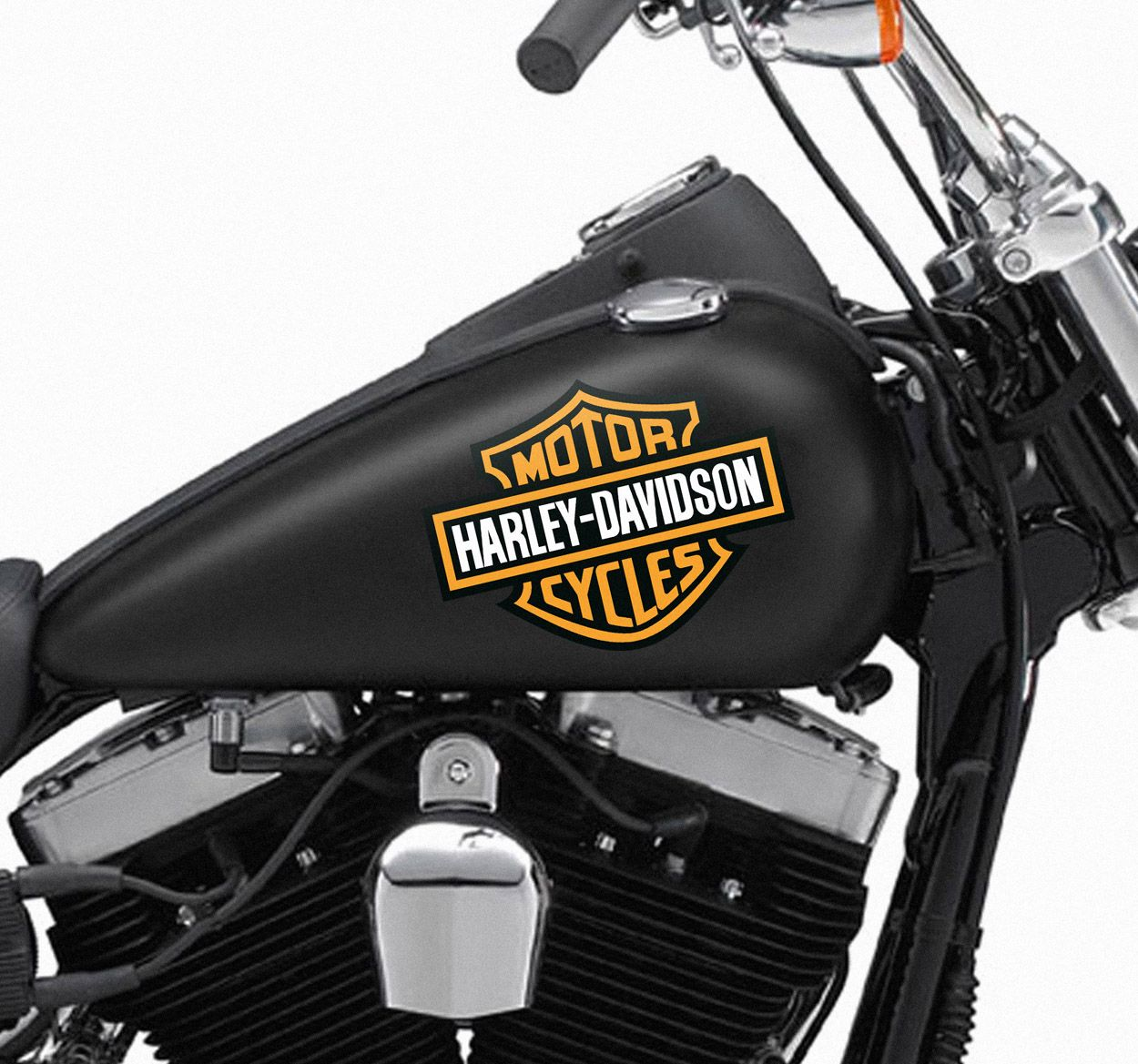 A Great Sticker Of The Harley Davidson Logo To Decorate Your - Stickers for motorcycles harley davidsons