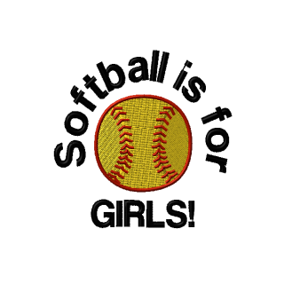 Softball Is For Girls Machine Embroidery Design Shows Your Love For