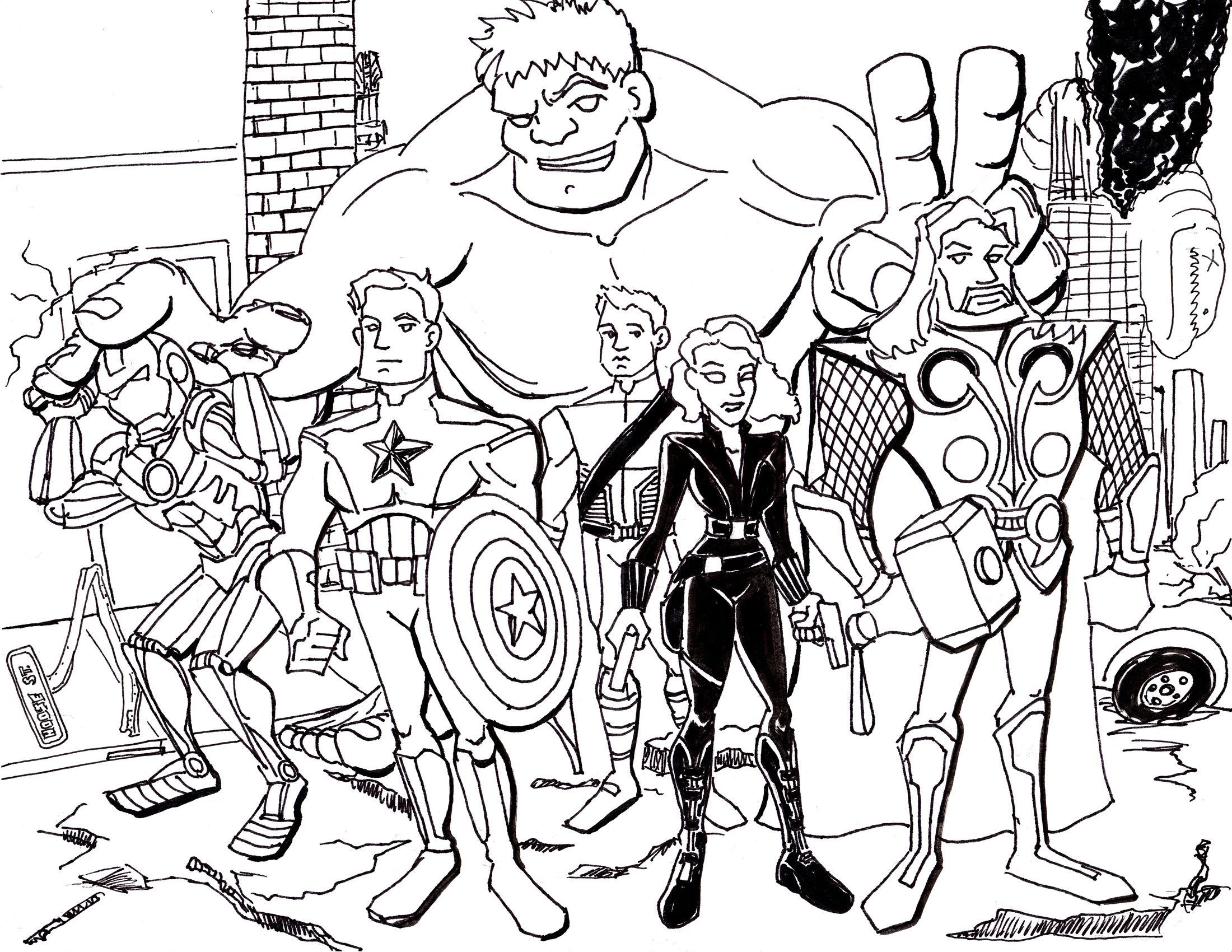 Coloring pages avengers