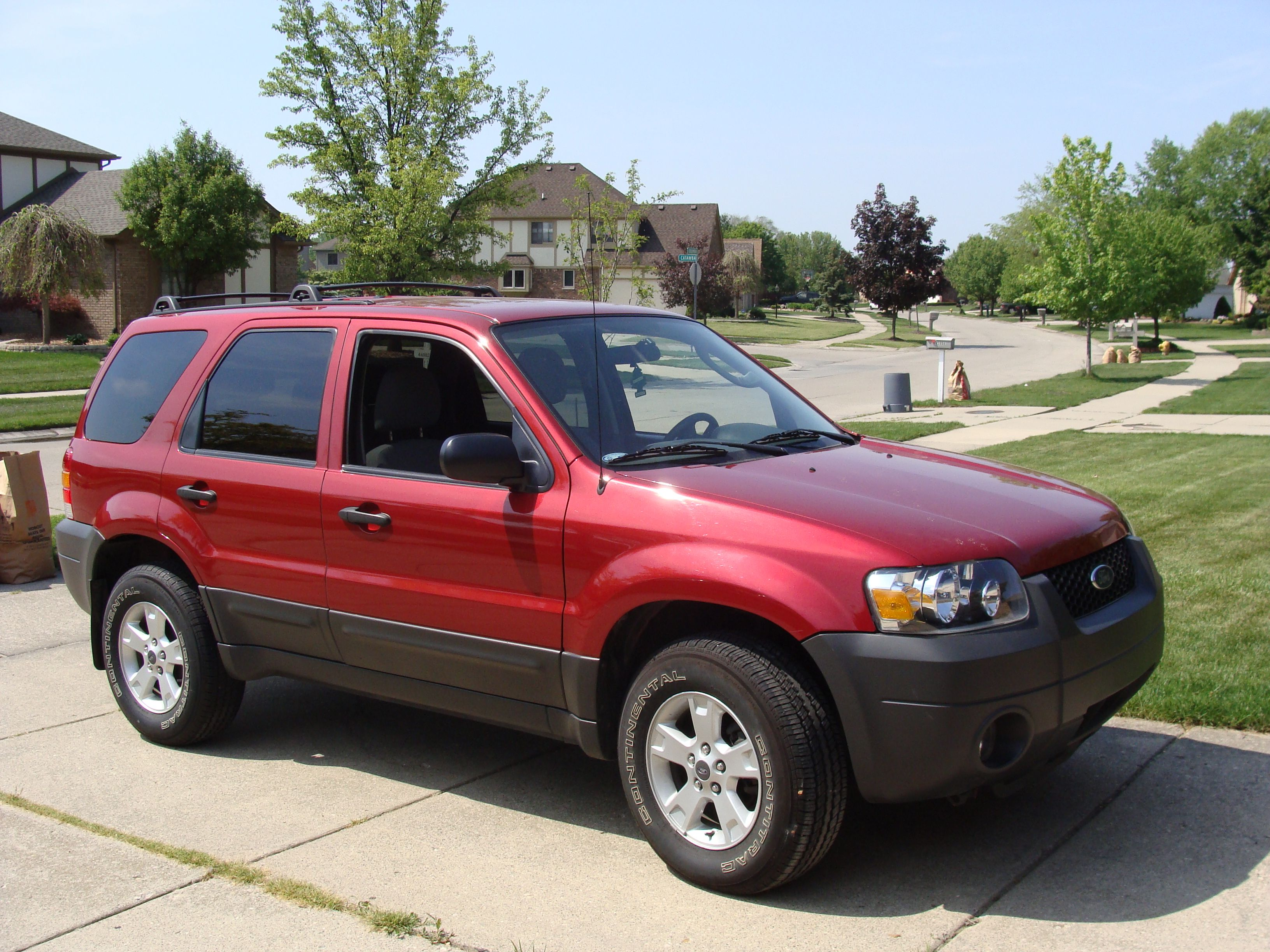 2005 Ford Escape Ford Escape Red Car Ford Maverick