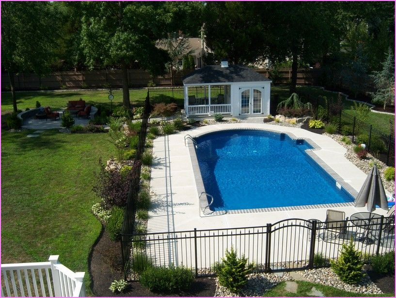 Nice Inground Pool Landscaping Ideas Designs Home Design