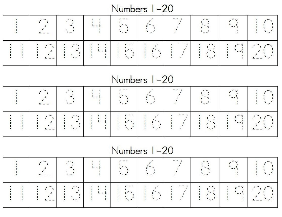 Trace Number 120 Worksheets Writing numbers