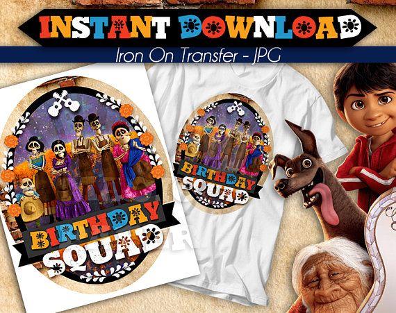 f1448529 DIGITAL FILE Coco Iron On Transfer, Birthday Squad, Coco birthday shirt, Coco  Tshirt Transfer, Coco Movie Iron On