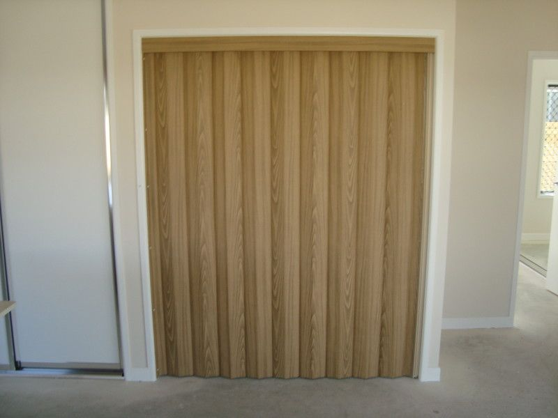 Timber Look Vinyl Folding Door | Blinds and Awnings you need ...