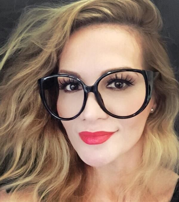 e24e082094c Oversized Large Big Round Cat Eye Clear Lens BOHO Style Nerd Glasses Frames  XL  FashionLabel