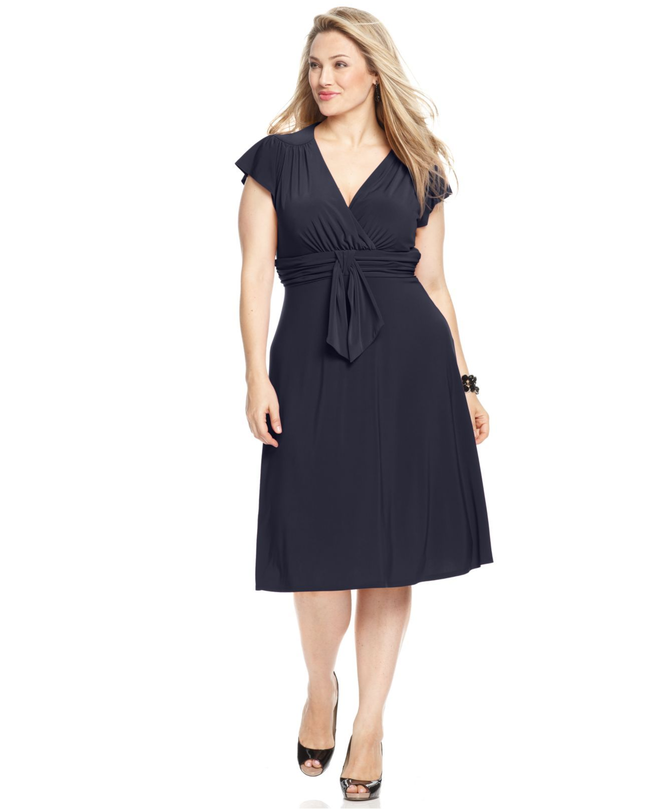 Jones New York Plus Size Dress, Short-Sleeve A-Line - Plus Size ...