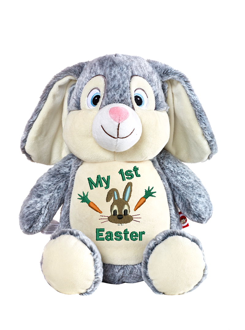 Cubbies™ Grey Bunny Stuffie With Personalized Embroidery