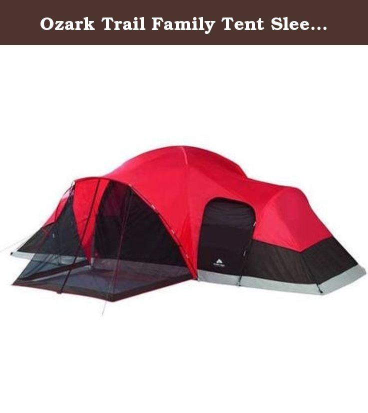 Ozark Trail Family Tent Sleeps x x Enlarged Dome Design  sc 1 st  Pinterest & Ozark Trail Family Tent Sleeps 10. 21u0027 x 15u0027 x 78u0027 Enlarged Dome ...