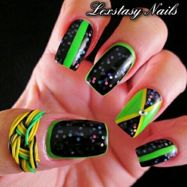 Instagram photo by lexstasynails #nail #nails #nailart | JAMAICA ...