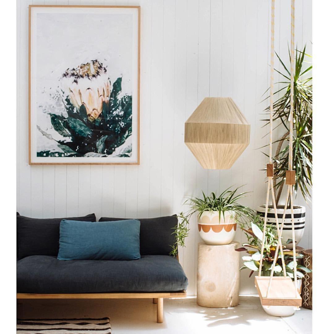 Lisa Sorgini Flotsam print, Linen Dreamer couch, Dream Weaver lamp ...