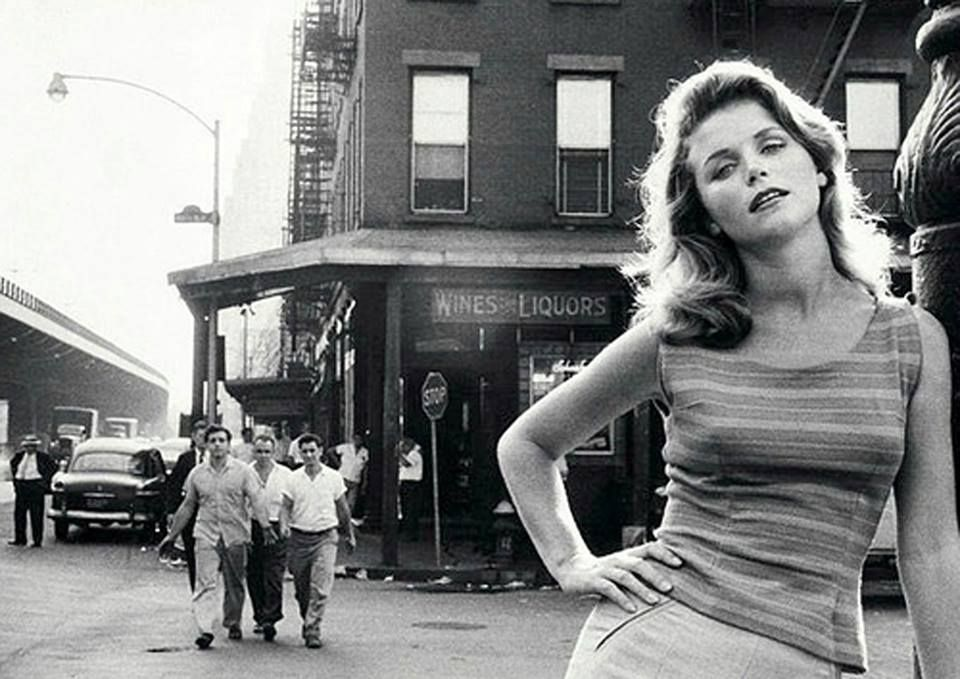 Marilyn Monroe Wasn't The Only Beauty That Sam Shaw Photographed On The Streets Of New York. (Sam Shaw - Lee Remick, The Bowery, New York City, 1960.)