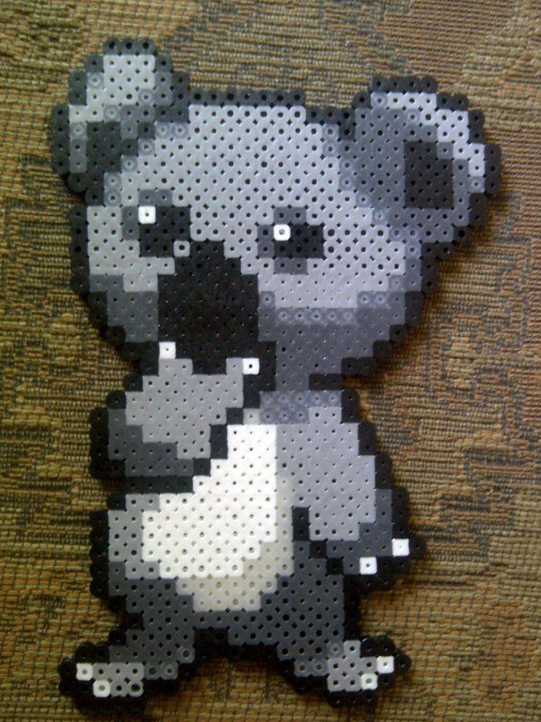 Koala perler beads by *LingeringSentiments on deviantART | Perler ...